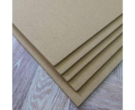 Мелкозернистый пробковый лист, толщина 5 мм, Размер листа: 940✕640✕5 мм