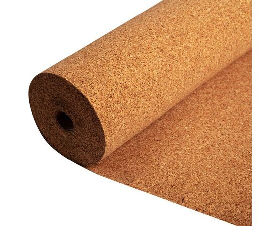 Рулонная пробковая подложка, толщина 6 мм ( рулон 10 м²), Размер рулона: 10м✕1м✕6 мм (10 м²)