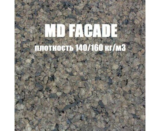 MD FACADE - черный фасадный агломерат толщиной 25 мм, повышенной плотности, Размер листа: 1000✕500✕25 мм ( 0,5 м²), Плотность: 140-160 кг/м³